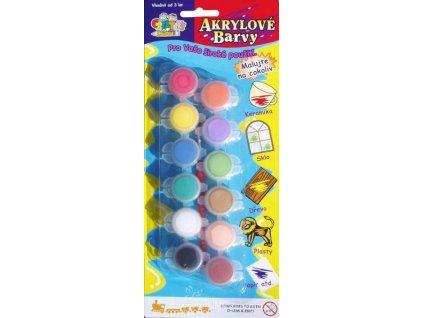SMT-ARF12 Akrylové barvy univerzální (12 barev + štětec)