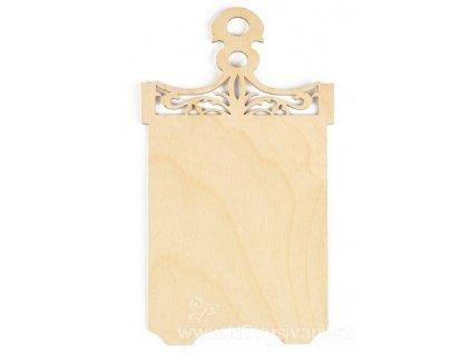BU-DZ00011 Dřevěná deska (14x25cm)