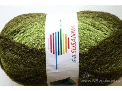 GB-05 Susanna melírovaná příze - zelená (350g)