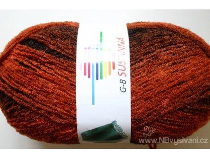 GB-02 Susanna melírovaná příze - oranžovohnědá (350g)