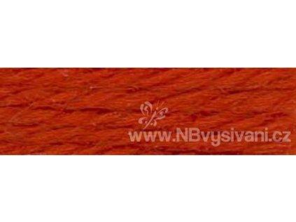 A486 DMC-7008 Vlněná příze 8m (Very Dark Burnt Orange)