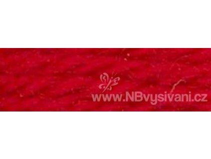 A486 DMC-7108 Vlněná příze 8m (Barn Red)