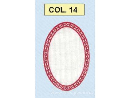 BM-AP00571-14 Ovál k dovyšití - červený okraj
