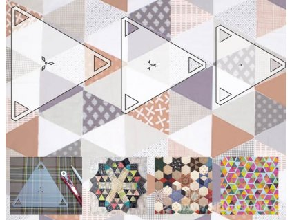 RR-RN3330 Set 3ks šablon pro patchwork Triangle