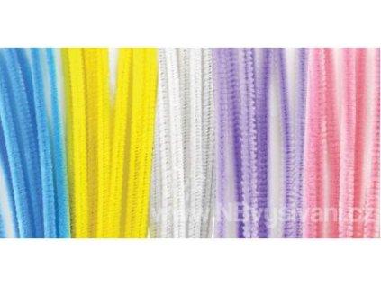 N-GC024K Chlupaté drátky - pastelové 30cm (40ks)