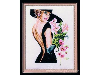 PRI-5581 Elegantní dáma v černém