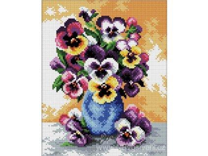 GR-NW240.054 Váza s maceškami