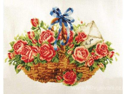 GR-NW340.033 Košík s růžemi