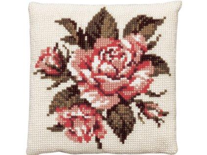 PA003.120 Polštářek s růžemi