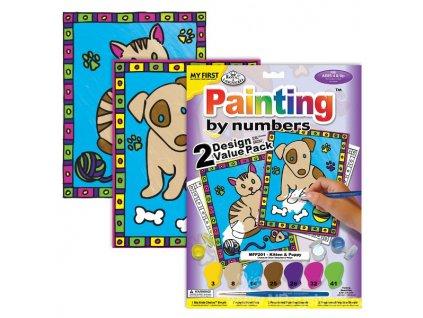 MFP201 První malování - Kotě a štěňátko (2ks)