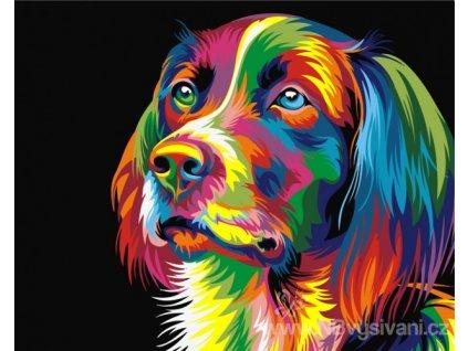 ART-02ART40500006 Malování podle čísel - Duhový pes (40x50cm)