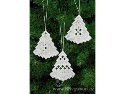 PER01-5621 Vánoční ozdoby Hardanger (3ks)