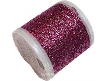 RICO2011.313 Metalická příze N.10 - Pink (40m)