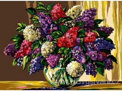 HU-AZ054 Váza se šeříky (gobelínový steh)