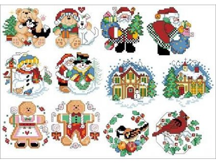 IC23153-1534 Holiday Favorites Ornaments (předloha)