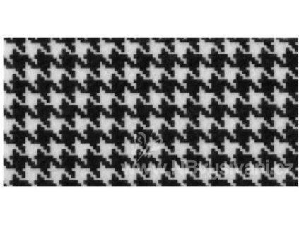N-49397 Filc s potiskem - černobílé pepito (30x23cm)