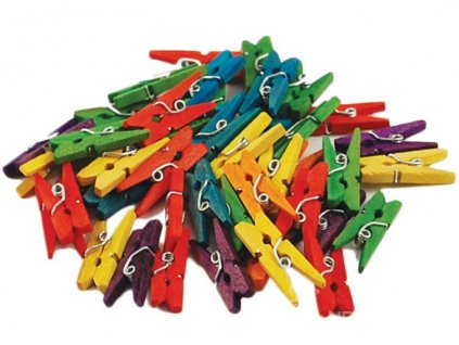 N-CW601 Kolíčky dřevěné barevné (45ks)