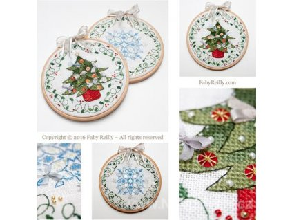 IC-22824 Tree & Flake Christmas Hoops (předloha)