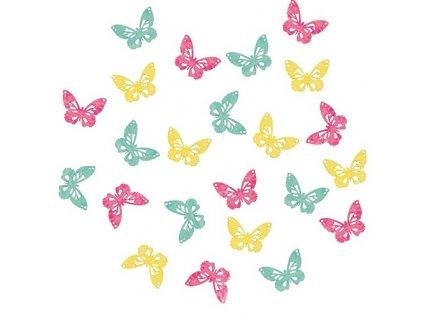 AP3900 Dřevění motýli 2cm (24ks)