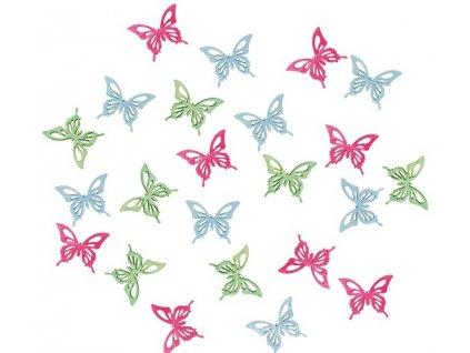 AP3901 Dřevění motýli 2cm (24ks)