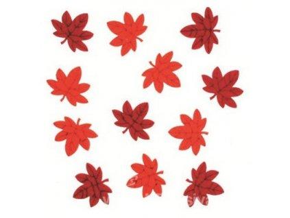 AP7074 Javorové listy z filcu s lepítkem 3cm (12ks)