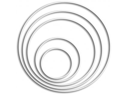 KR-69052 Drátěný kruh 20cm bílý 1ks (tloušťka 3mm)