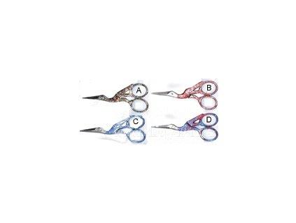 RR-V1125 Vyšívací nůžky čáp - metalizované