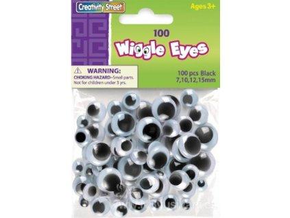 N-3446-02 Oči pohyblivé kulaté 7,10,12,15mm (100ks)