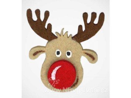 BM-APPL00528 Filcová dekorace - vánoční sob