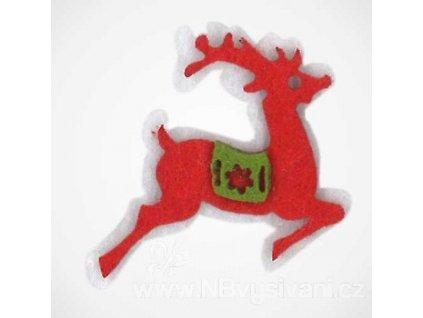 BM-APPL00512 Filcová dekorace - červený sob