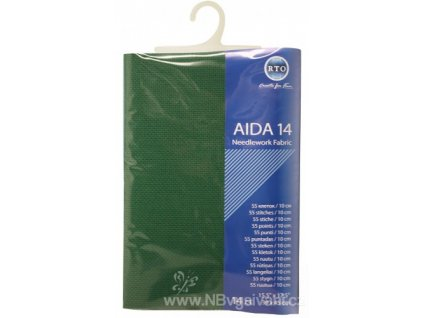 RT-14-601 Aida 14ct Christmas Green (39x45cm)
