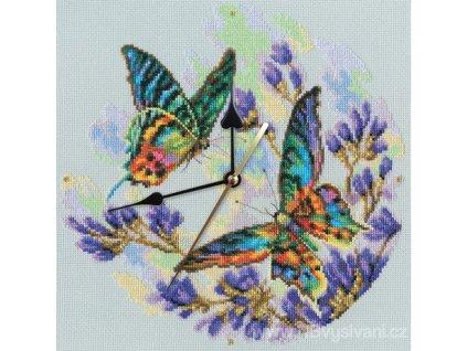 RT-M40014 Barevní motýli (hodiny)