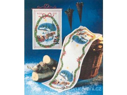 OOE-66224 Vánoční ubrus (32x92cm)