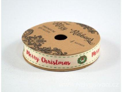 ALL-RIBGGP4-17 Dekorační stužka Merry Christmas 16mm (4m)
