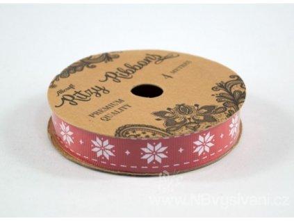 ALL-RIBGGP4-18 Dekorační stužka Poinsettia 16mm (4m)