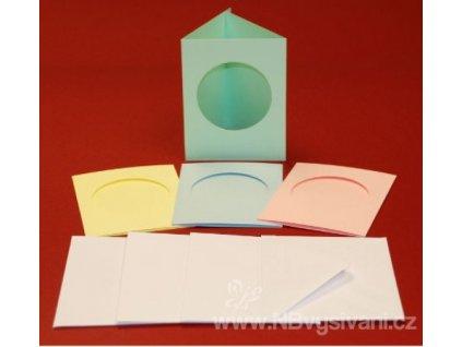 ALL-CUL44804 Barevná papírová přání s obálkou (4ks)