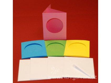 ALL-CUL44805 Barevná papírová přání s obálkou (4ks)