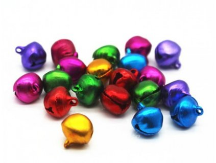 ALL-BELL8-ASST Rolničky 8mm mix barev (20ks)