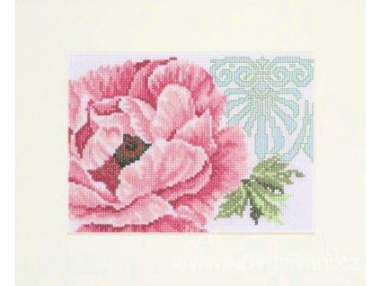 ART-L11105A Růžový květ s ornamentem