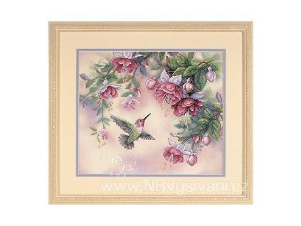13139 Hummingbird and Fuchsias - Kolibřík a fuchsie