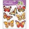 AP10161 3D samolepky na zeď s glitry - motýli
