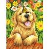 DIM73-91457 Malování podle čísel -Puppy Gardener (23x30cm)