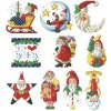 IC7729-1484 I Love Santa Ornaments (předloha)