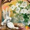 AZDP-1099 Holoubci a bílé růže