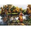 HU-AZ299 Žena u řeky (gobelínový steh)