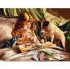 HU-AZ275 Čas na snídani (gobelínový steh)
