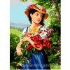 SEG-929.535 Dívka s náručí květin