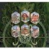 8785 Christmas Village Ornaments - Vánoční ozdoby s...