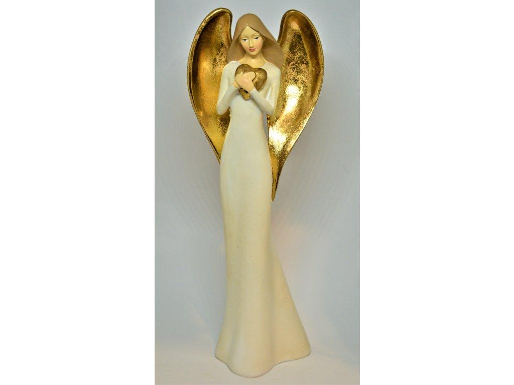 Anděl se zlatými křídly - vysoký