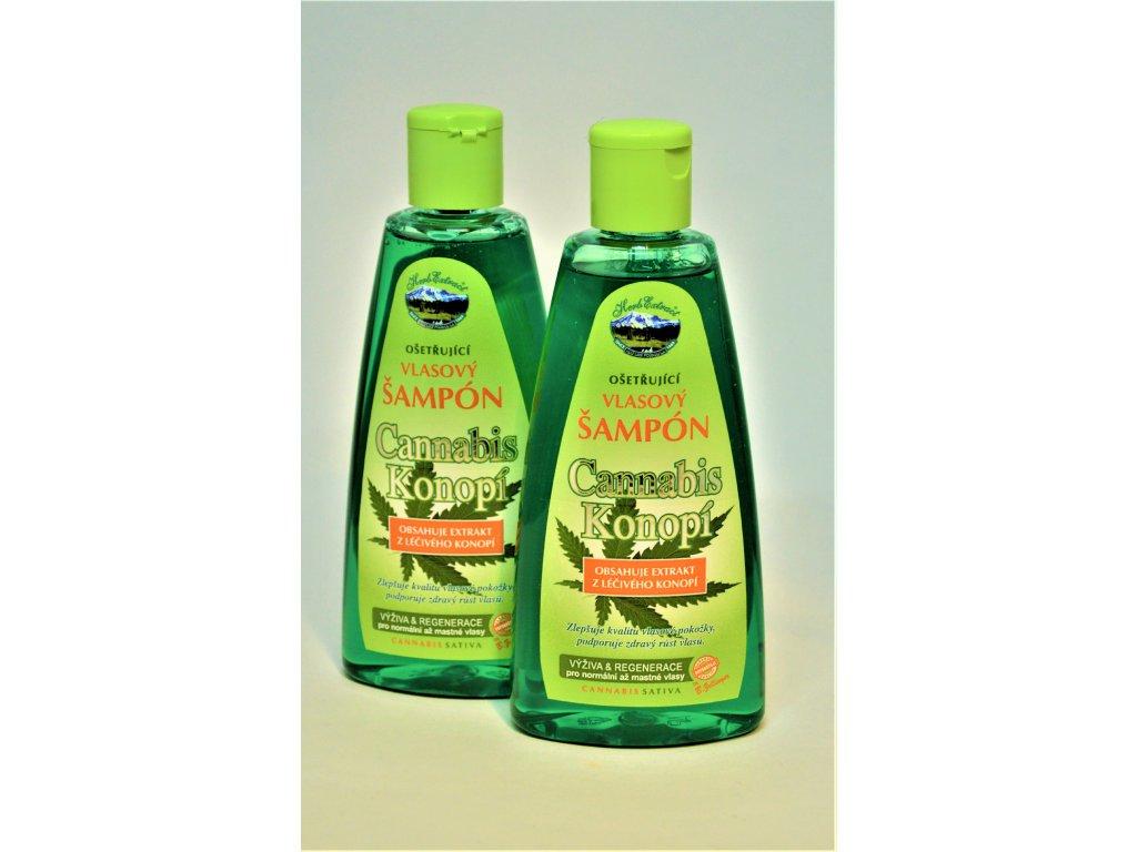 Vlasový šampon Cannabis Konopí Herb Extract